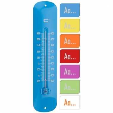 Buiten thermometer oranje 30 cm