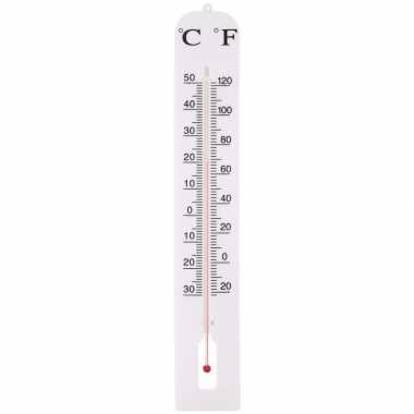 Buiten thermometer wit 39 cm