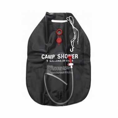 Camping douche 20 liter zwart