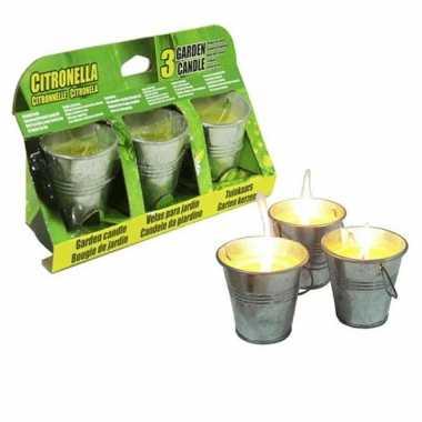 Citronella kaarsen 3 stuks