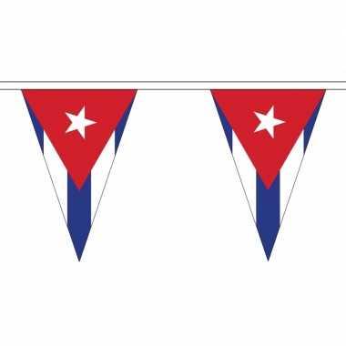 Cuba versiering vlaggenlijn 5 m