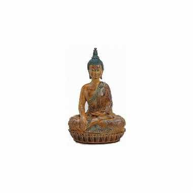 Decoratie boeddha beeld bruin 45 cm