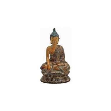 Decoratie boeddha beeldje bruin 26 cm