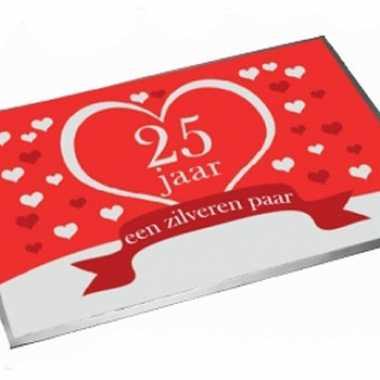Deurmat/buitenmat jubileum 25 jaar getrouwd 40 x 60 cm