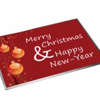Deurmat/buitenmat kerst/nieuwjaar 40 x 60 cm