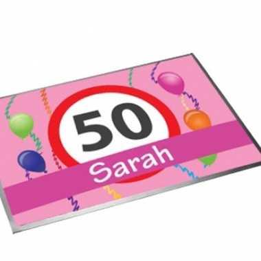 Deurmat/buitenmat sarah 50 jaar 40 x 60 cm
