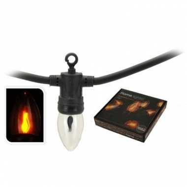 Feest verlichting met kaars vlammetjes