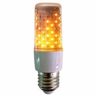 Firelamp vuureffect lamp/peertje wit e27 fitting onder of boven