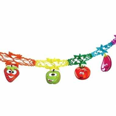 Gekleurde vlaggenlijn met fruit