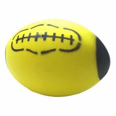 Gele foam rugby bal 24 cm