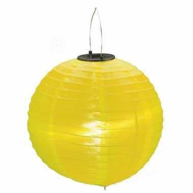 Gele solar lampionnen op zonne energie 30 cm