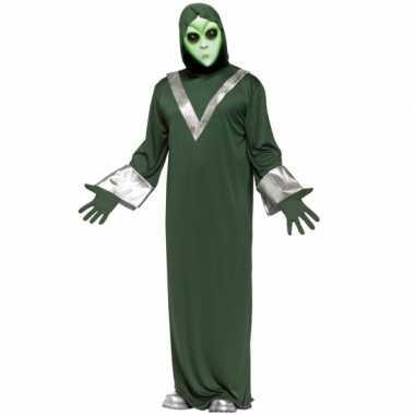 Groen alien kostuum