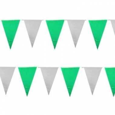 Groen/witte vlaggenlijntjes 10 m