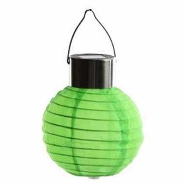 Groene lampion op zonne energie voor buiten