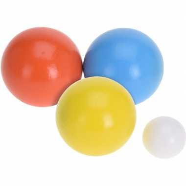 Houten jeu de boules sets met 6 ballen buitenspeelgoed voor kinderen