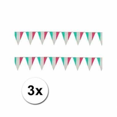 Italiaanse plastic vlaggetjes 3x