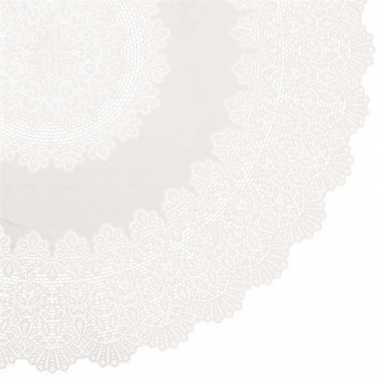 Ivoor wit tuin tafellaken voor buiten 152 cm rond van kunststof
