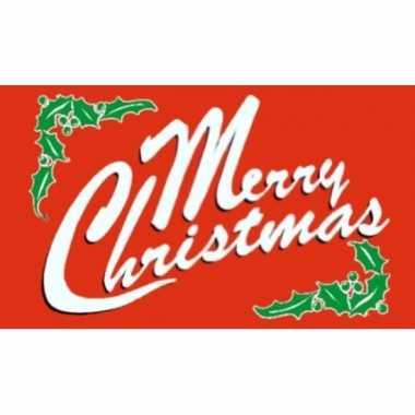 Kerstvlag merry christmas