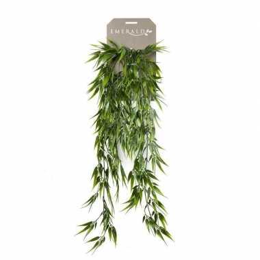 Kunstplant groene bamboe hangplant/tak 75 cm