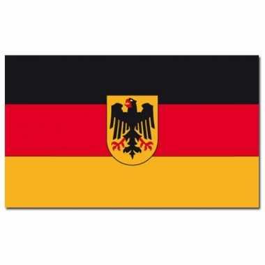 Landen vlag duitsland met wapen