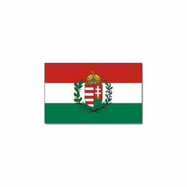 Landen vlag hongarije met wapen