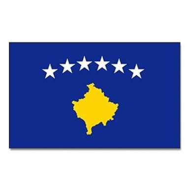 Landen vlag kosovo 90 x 150 cm