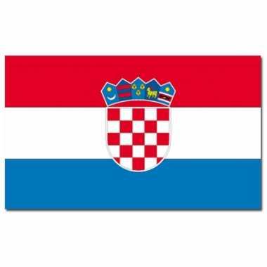 Landen vlag kroatie 90 x 150 cm