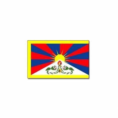 Landen vlag tibet 90 x 150 cm