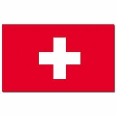 Landen vlag zwitserland 90 x 150 cm