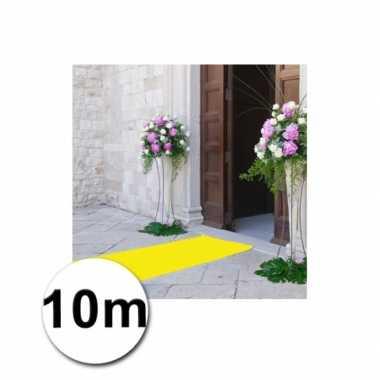 Loper in de kleur gele 1 bij 10 meter