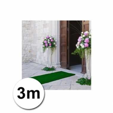 Loper in de kleur groene 1 bij 3 meter