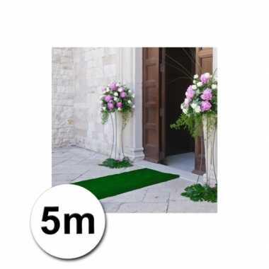 Loper in de kleur groene 1 bij 5 meter