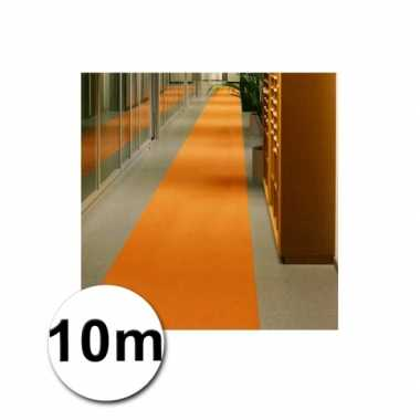 Loper in de kleur oranje 1 bij 10 meter