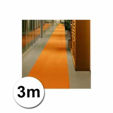 Loper in de kleur oranje 1 bij 3 meter