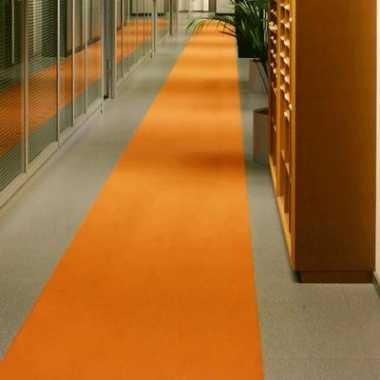 Loper in de kleur oranje 1 meter breed