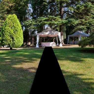 Loper in de kleur zwart 1 meter breed