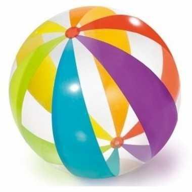 Opblaasbare bal gekleurd 76 cm buitenspeelgoed