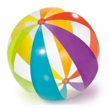 Opblaasbare bal gekleurd 82 cm buitenspeelgoed