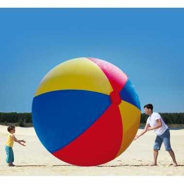 Opblaasbare bal multikleur gekleurd 300 cm buitenspeelgoed