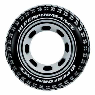 Opblaasbare band tractorband/autoband 91 cm zwembanden/zwemringen bui