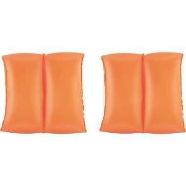 Opblaasbare oranje zwembandjes/zwemmouwtjes buitenspeelgoed
