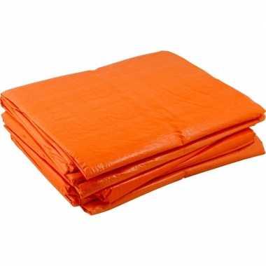 Oranje dekzeilen 4 x 6 meter