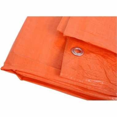 Oranje dekzeilen 6 x 8 meter