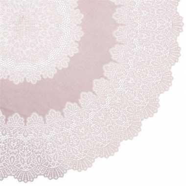 Oud roze tuin tafellaken voor buiten 152 cm rond van kunststof