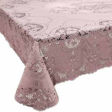 Oud roze tuin tafellaken voor buiten 152 x 228 cm rechthoekig van kun