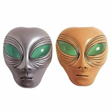 Plastic alien gezichtsmaskers