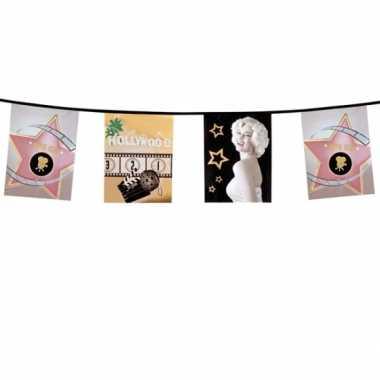 Plastic hollywood vlaggenlijn 6 m