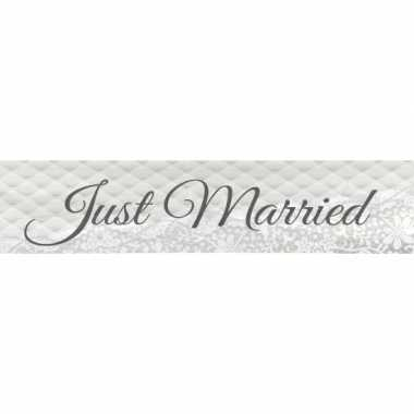 Plastic just married banner 360 cm