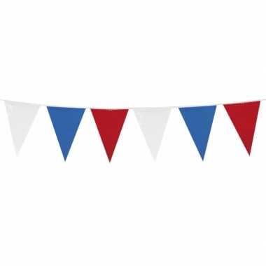 Rood wit blauwe vlaggetjes