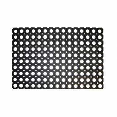 Rubberen deurmat / buitenmat 60 x 40 cm